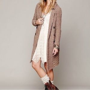 Free people buttermilk biscuit chunky cardigan S
